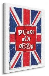 Punks Not Dead - Flag - Obraz na płótnie