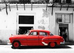 Cadillac, Havana Cuba - fototapeta 254x183 cm