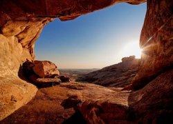 Fototapeta do sypialni - Grota na pustyni - 320x230 cm