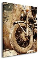 Stary motocykl - Obraz na płótnie