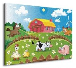 Farma i zwierzaki - Obraz na płótnie