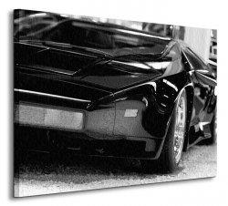Czarna bestia (Sport car) - Obraz na płótnie