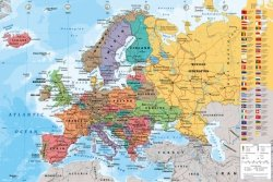 Mapa Europy 2013 - plakat