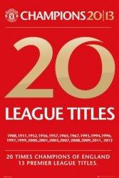 Manchester United 20 Tytułów - plakat