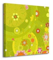 Dużo kwiatów - Obraz na płótnie