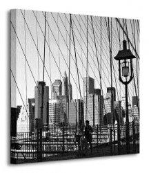 Obraz na płótnie - New York Bridge - 40x40 cm