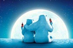 Coca Cola Misie Polarne w Pełni Księżyca - plakat