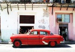 Fototapeta ścienna - Havana Cuba - cadillac - 366x254 cm