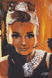 Audrey Hepburn Fishwick Breakfast - plakat