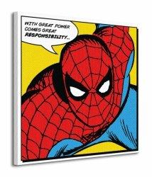 Spider-man (Quote) - Obraz na płótnie