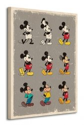 Mickey Mouse (Evolution) - Obraz na płótnie