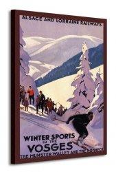 Winter Sports In The Vosges - Obraz na płótnie