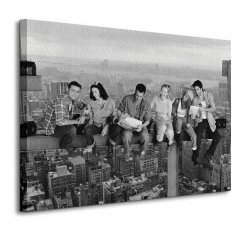 Friends (Lunch on a Skyscraper) - Obraz na płótnie