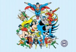 Fototapeta dla dzieci - DC Comics Bohaterowie - 232x158 cm