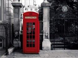 Fototapeta na ścianę - Czerwona Budka Telefoniczna - Londyn - 315x232 cm