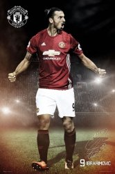 Manchester United Zlatan Ibrahimovic - plakat