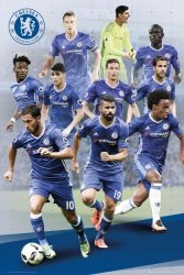 Chelsea Londyn Hazard, Costa, Willian, Terry, Cahill - plakat