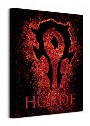 Obraz na płótnie - Warcraft (The Horde - Splatter)
