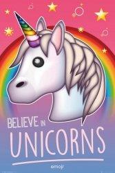 Emoji Believe in Unicorns - plakat