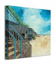 Summer Beach Huts I - obraz na płótnie