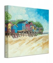 Summer Beach Huts II - obraz na płótnie