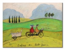 Obraz na płótnie - Taking the Ducks Home - 80x60 cm