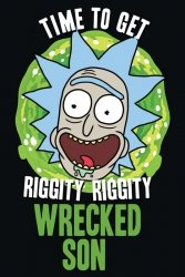 Rick and Morty (Wrecked Son) - plakat