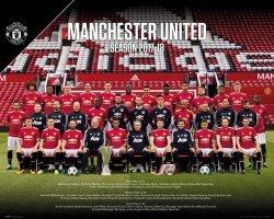 Manchester United Team Photo 17/18 - plakat