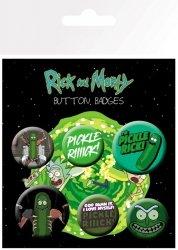 Rick and Morty Pickle Rick - przypinki