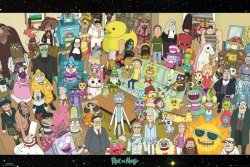 Rick and Morty Cast - plakat