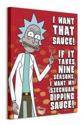 Rick and Morty Szechuan Sauce - obraz na płótnie