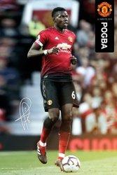 Manchester United Pogba 18/19 - plakat sportowy