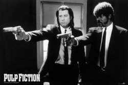 Pulp Fiction (B&W Guns) - plakat