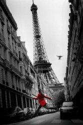 Paryż (La Veste Rouge) - plakat