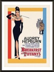Obraz w ramie - Audrey Hepburn Breakfast At Tiffany's One-sheet