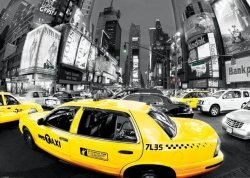 Rush Hour Times Square (Yellow Cabs) - plakat