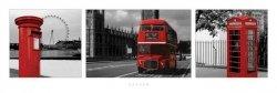 Londyn (Czerwony tryptyk)  - plakat