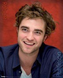 Robert Pattinson(w czerwieni) - plakat