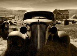 Fototapeta na ściane - Stary samochód, vintage - 254x183 cm