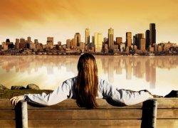 Fototapeta na ścianę - Panorama miasta - 254x183 cm