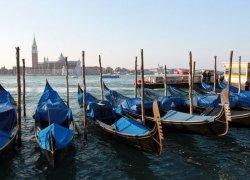 Fototapeta na ścianę - Wenecja, gondole - 254x183 cm