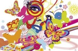 Fototapeta na ścianę - Rainbow Face - 175x115cm
