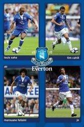 Everton (Saha, Cahill, Fellaini & Jo) - plakat