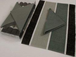 Podkładki na stół + Serwetki x 4-szt - Siwo-Czarne