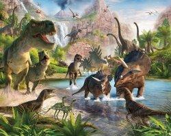 Fototapeta dla dzieci - Dinosaur Land 2 - 3D - Walltastic - 243,8x304,8 cm