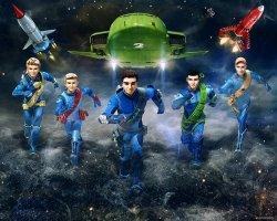 Fototapeta dla dzieci 3D - Thunderbirds Are Go! - Walltastic