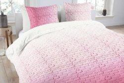 Pościel bawełniana - ANEEZA Pink Brick - 140x200 cm