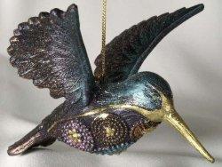 Ozdoba choinkowa - Koliber 12cm - (6szt. w opakowaniu)