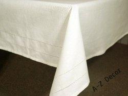 Obrus na stół - Kremowy - Bawełna - 150x300cm