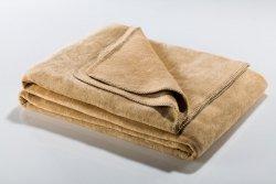 Koc - Beżowy - 130x180 cm - SoftLine Beige